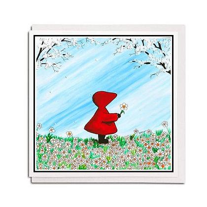 Greetings card: Red Hood ~ Daisy, Daisy