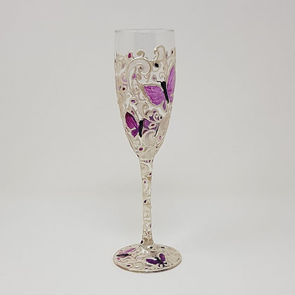 Champagne glasses: Butterfly