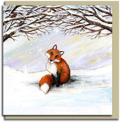 Eco Greetings card: Watching the Snow