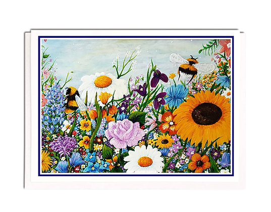 Greetings card: Bee Colourful
