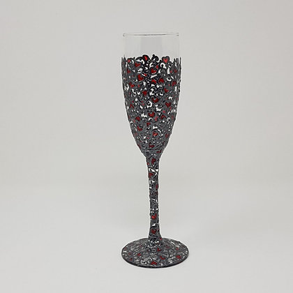 Champagne glasses: Red Swirl