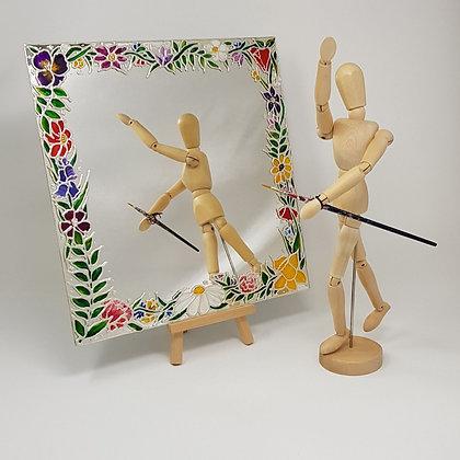 Square mirror: Floral