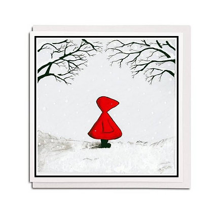 Greetings card: Red Hood ~ Home Soon