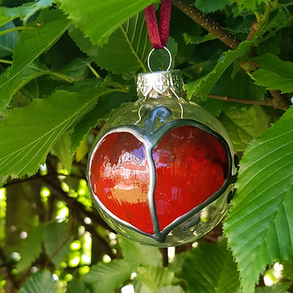 Bauble: Red Leaf