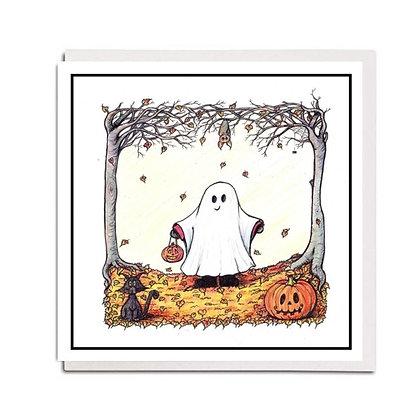 Halloween card: Boo