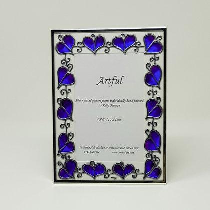 Portrait frame: Blue Leaf
