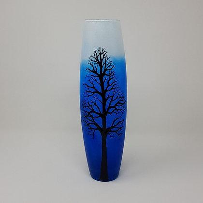 Bullet vase: Blue Tree