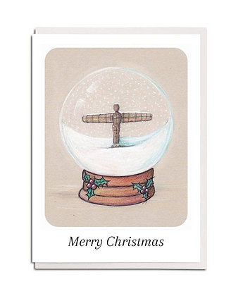 Christmas card: Snowglobe ~ Angel of the North