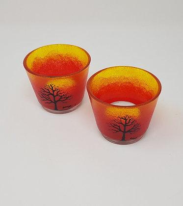 Round tealight holder: Orange Tree