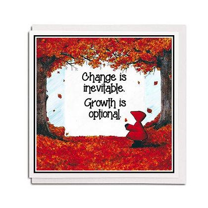 Greetings card: Red Hood quote ~ Seasons