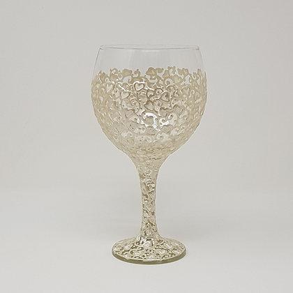 Gin glasses: White Swirl