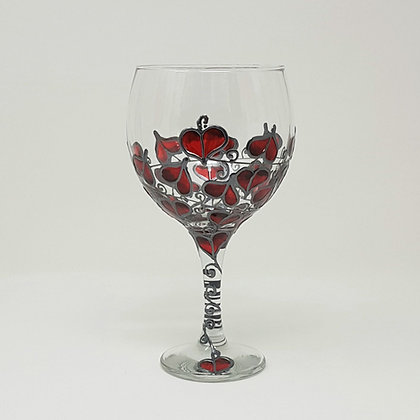 Gin glasses: Red Leaf