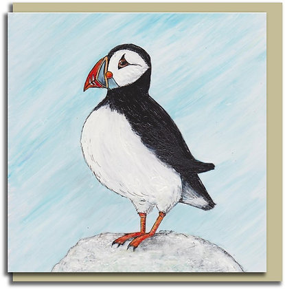 Eco Greetings card: Puffin