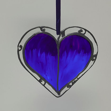 Standard suncatcher: Blue Leaf