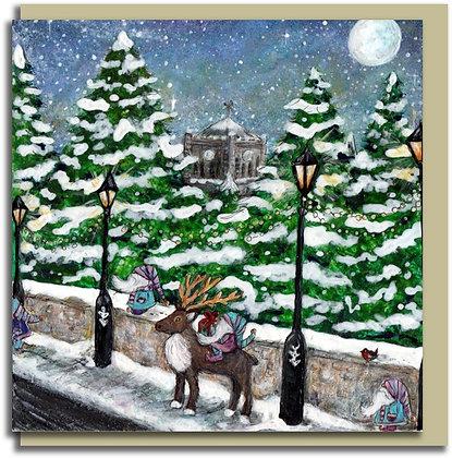 Eco Christmas card: Hexham Elves