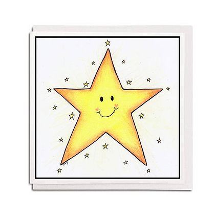 Greetings card: Star