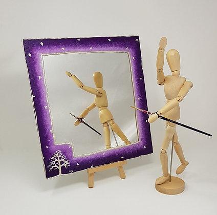 Square mirror: Purple Tree