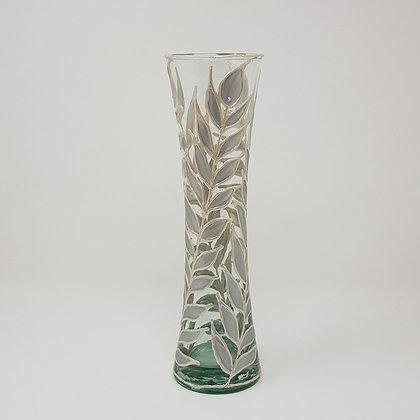 Flared vase: Silver Leaves