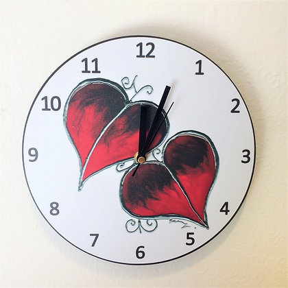 Clock: Red Leaf
