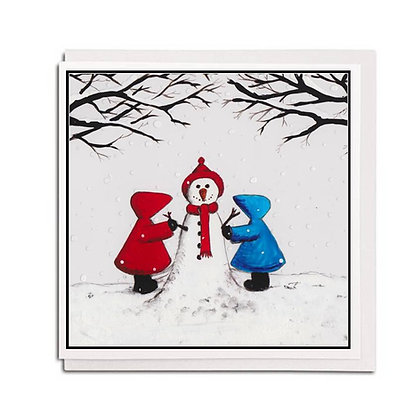 Christmas card: Red Hood ~ Snow Friends