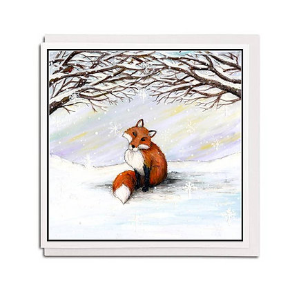 Greetings card: Watching the Snow