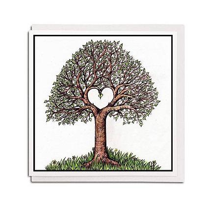 Greetings card: Love Tree