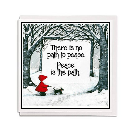 Greetings card: Red Hood quote ~ Snow