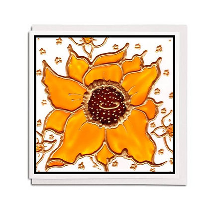 Greetings card: Glass design ~ Spring