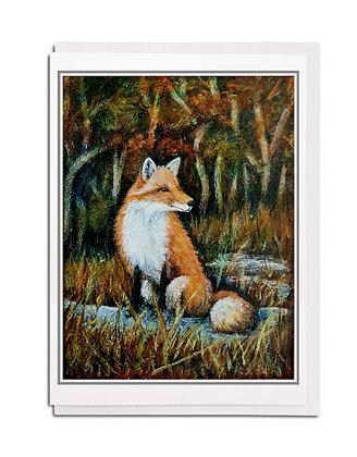 Greetings card: Mr Fox