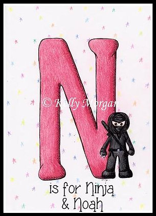 Alphabet print: N is for...