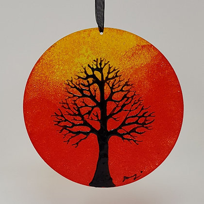 Large suncatcher: Orange Tree