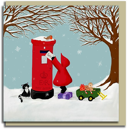 Eco Christmas card: Red Hood ~ Letter to Santa