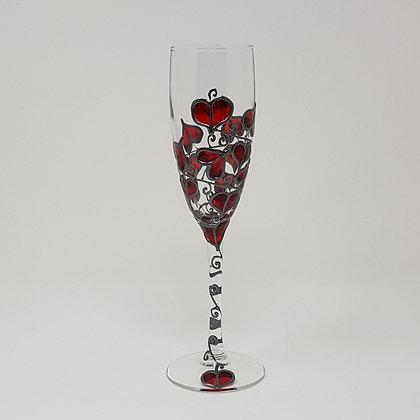 Champagne glasses: Red Leaf
