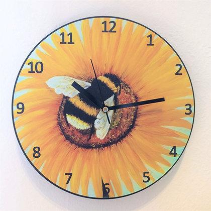 Clock: Bee Happy