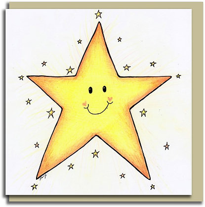 Eco Greetings card: Star