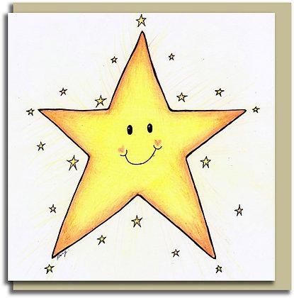 Eco Greetings card: Star
