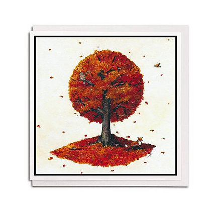 Greetings card: Tree for all Seasons ~ Autumn