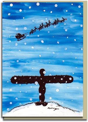 Eco Christmas card: Santa at the Angel