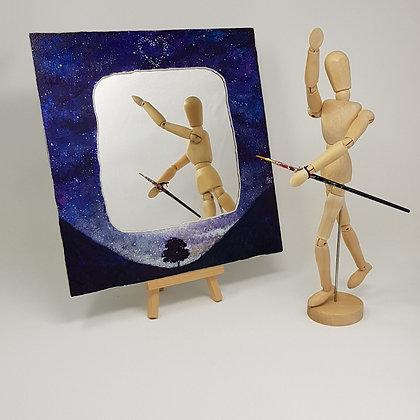 Square mirror: Starry Sycamore