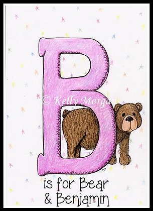 Alphabet print: B is for...