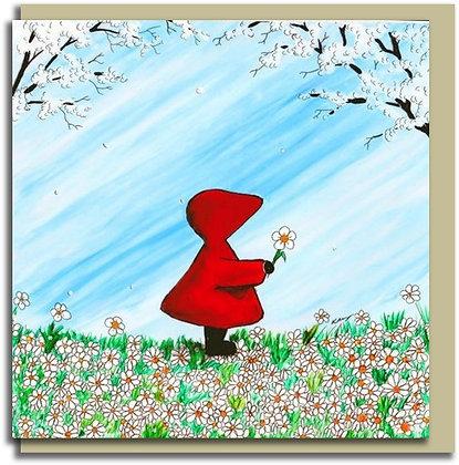 Eco Greetings card: Red Hood ~ Daisy, Daisy