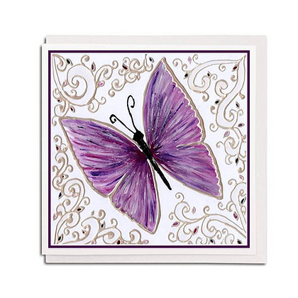 Greetings card: Glass design ~ Butterfly