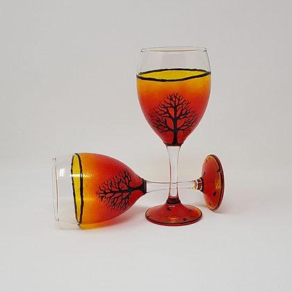 Wine glasses: Orange Tree