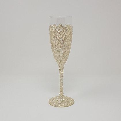 Champagne glasses: White Swirl