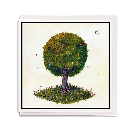 Greetings card: Tree for all Seasons ~ Summer