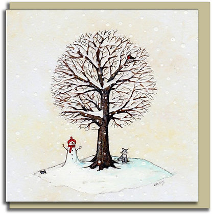 Eco Greetings card: Tree for all Seasons ~ Winter