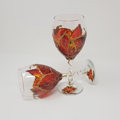 Wine glasses: Autumn