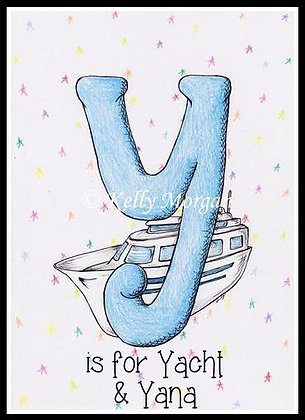 Alphabet print: Y is for...