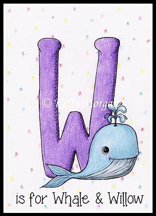 Alphabet print: W is for...
