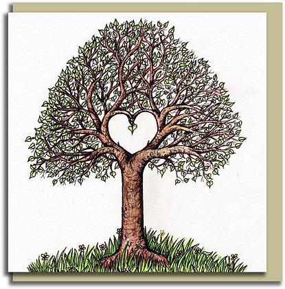 Eco Greetings card: Love Tree